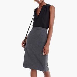 J Crew Wool Pencil Skirt grey